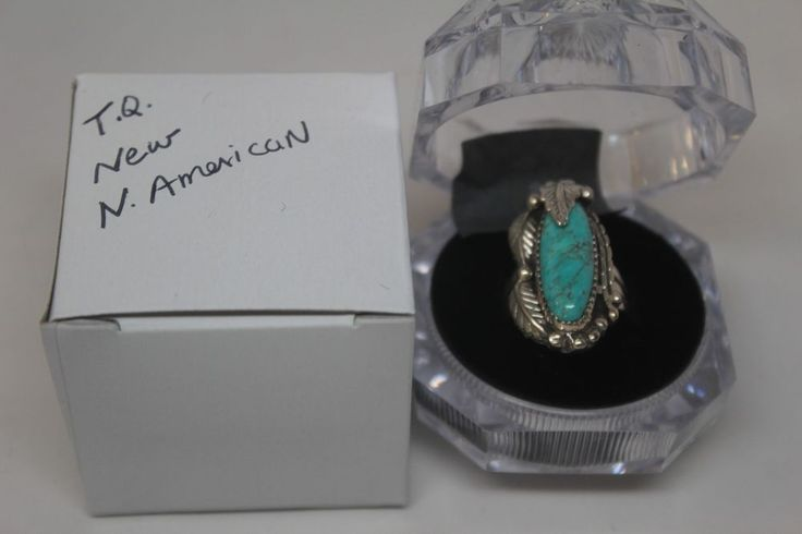 Genuine TURQUOISE .925 Sterling Native Am. RING size 7  Perfect VALENTINE gift! #Unbranded