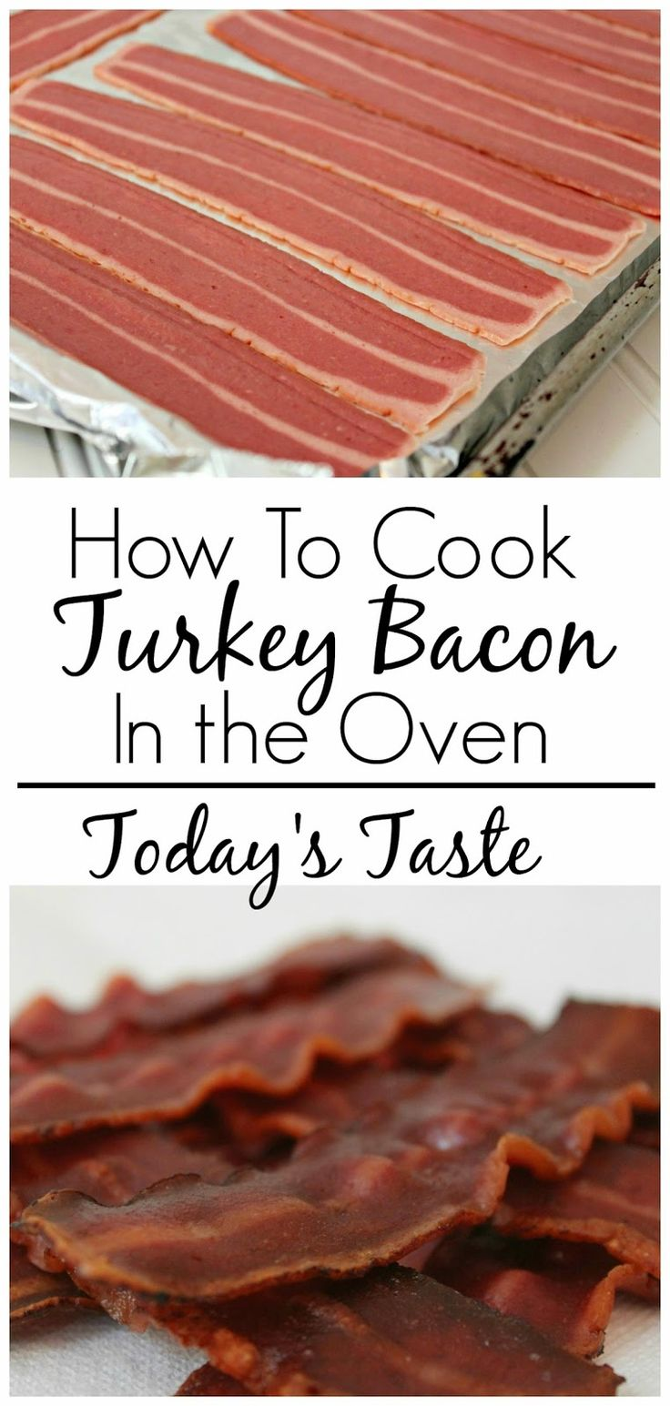 Today's Taste: How to Cook Turkey Bacon in the Oven. (Can place bacon on cooling rack on a cookie sheet to drain excess grease)