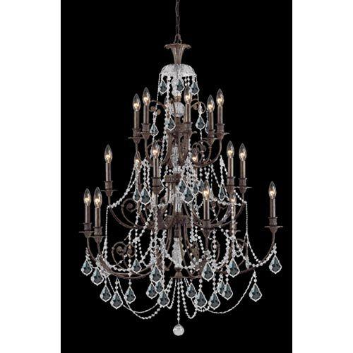 Crystorama Lighting Group Regis English Bronze Eigh Light Crystal Chandelier On