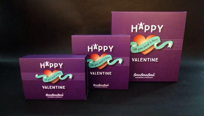 Three sizes chocolate boxes