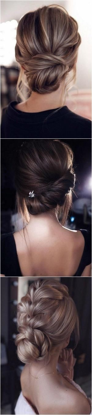 elegant low bun updo wedding hairstyles 1 by megha…