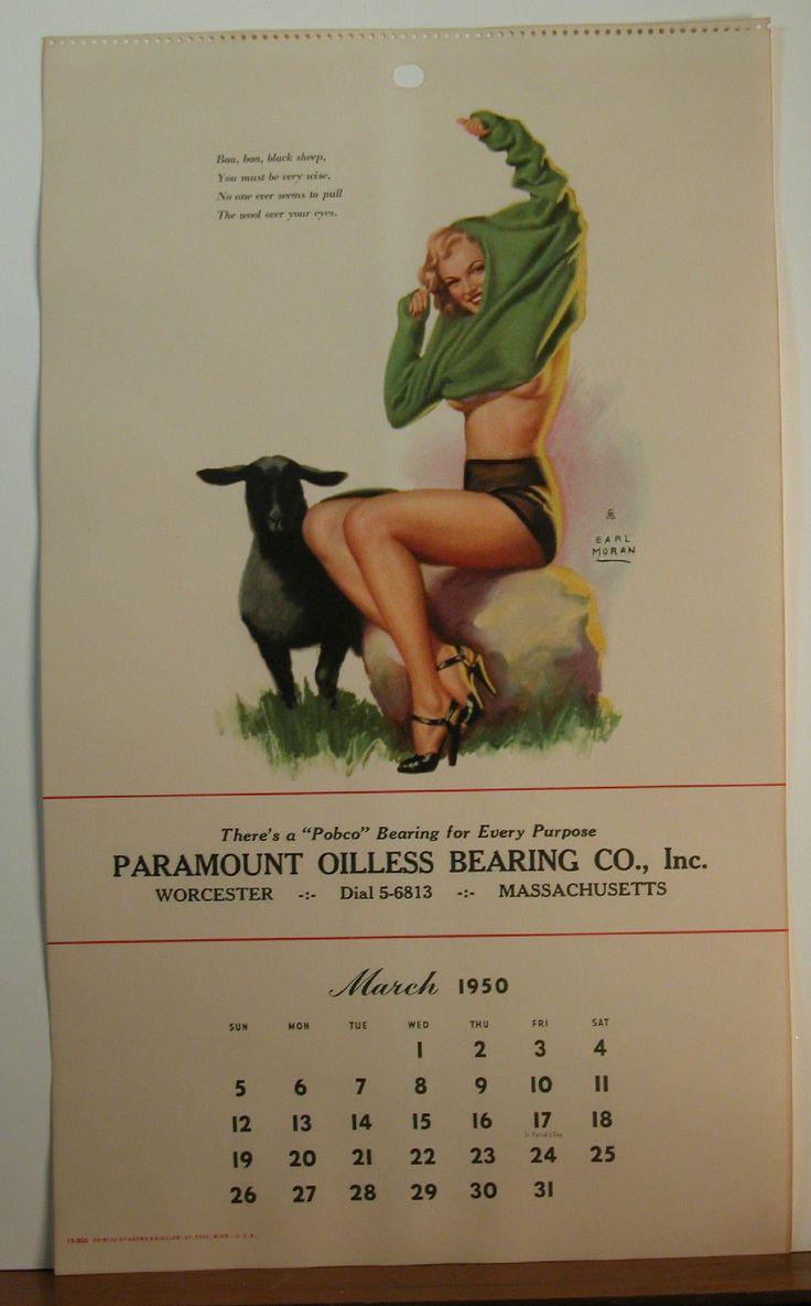 Earl Moran March 1950 Marilyn Monroe Baa Baa Black Sheep Pull Sweater Over Eyes