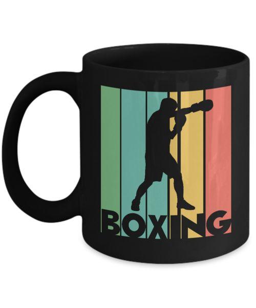 Shirt White Retro Classic Vintage Sports Boxing Coffee Mug 11oz Black