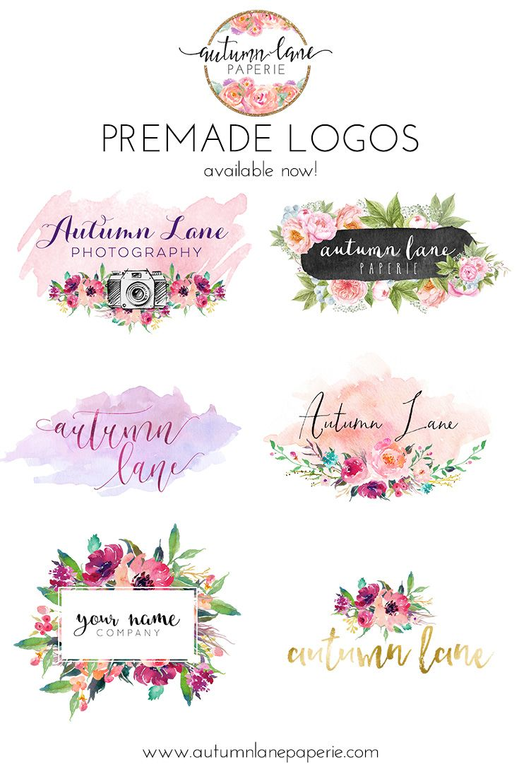 Autumn Lane Paperie Premade Logos Predesigned Logos