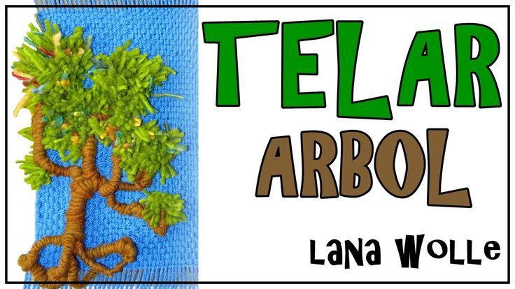 TELAR ARBOL 1. Tapiz 3D. Wall Hanging TREE. Wandteppich BAUM. Lana Wolle - YouTube