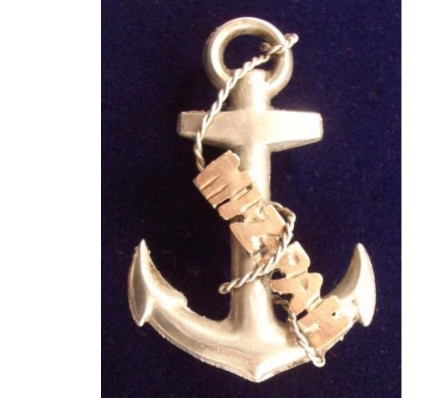 Silver And Gold Hallmarked Mizpah Anchor 1916 in Jewellery & Watches, Vintage & Antique Jewellery, Vintage Fine Jewellery | eBay