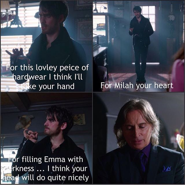 Hook and Rumplestiltskin. Once Upon A Time Season 5 Episode 10