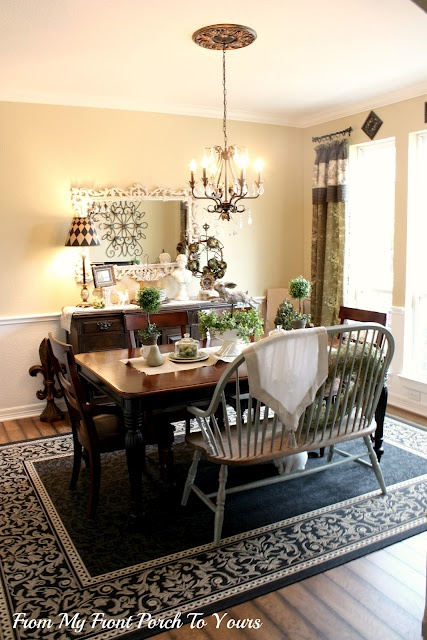 Natural Rustic Glam Spring Dining Room Dining Rooms