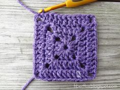 How to Crochet A Solid Granny Square tutorial. Thanks so for great beginners square xox