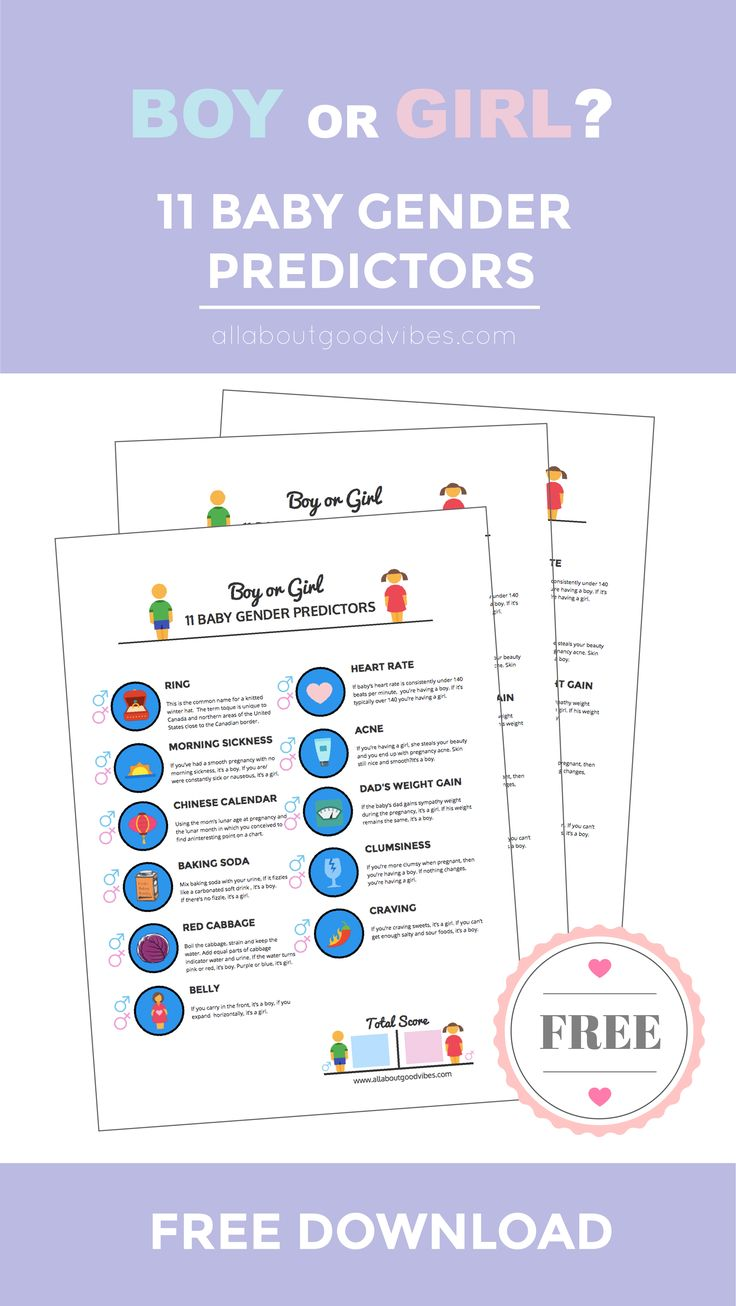 The 25 best boy or girl predictor ideas on pinterest boy or i 11 baby gender predictors with a free printable nvjuhfo Images