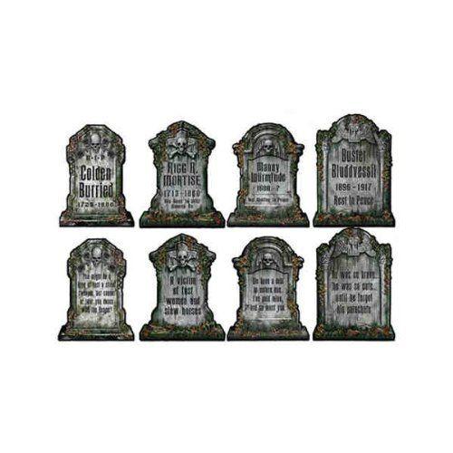 4 fausses pierres tombales effrayantes Accessoires de décoration d'Halloween