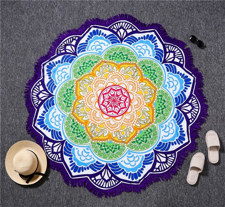 Indian Bohemian Mandalas Lotus Tapestry Yoga Towel