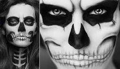 Resultado de imagen para maquillaje de esqueleto para mujer