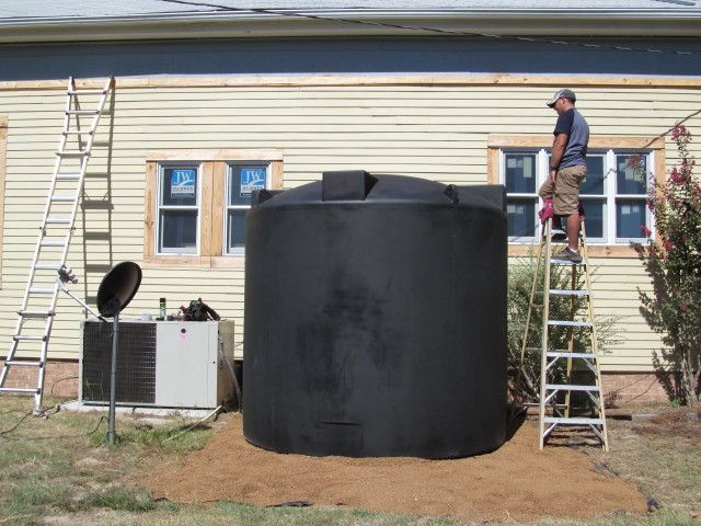 Why we chose black for our rainwater cistern - Living Vintage