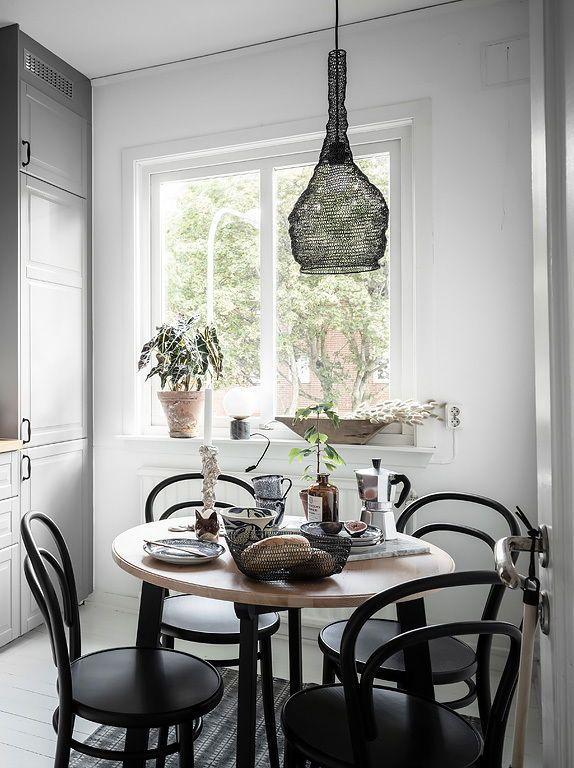 Compact Swedish Home Home Swedish House Dining Table