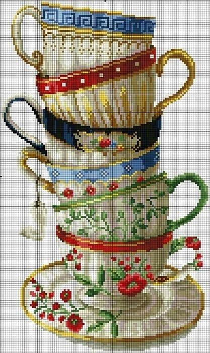 "Cross stitch for in the kitchen maybe? ~ Preciosas cosas del corazón: ""El enfoque de la copa"""