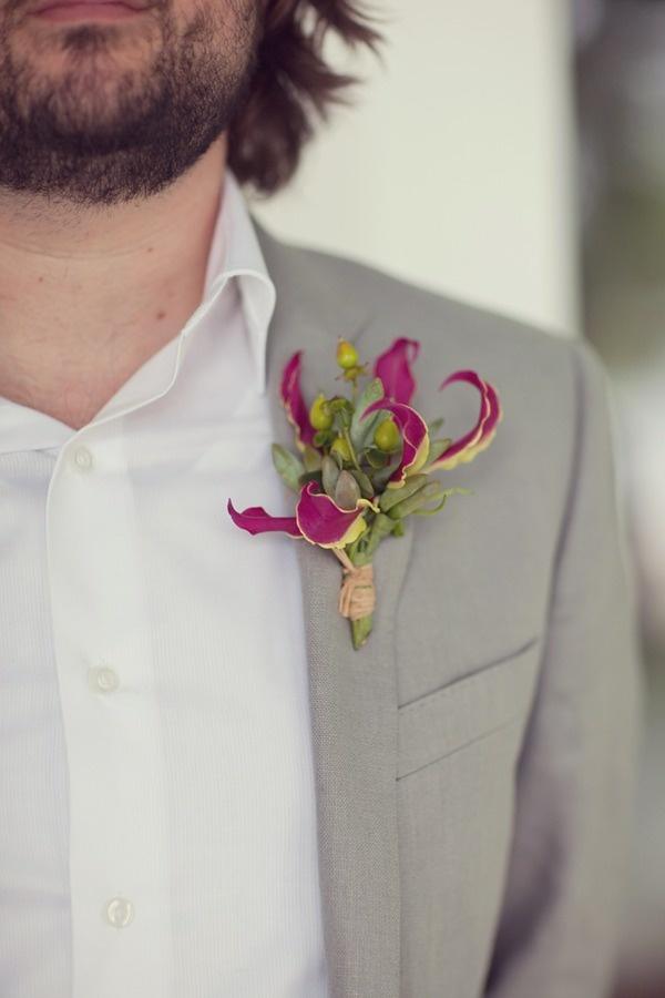 gorgeous gloriosa buttonhole