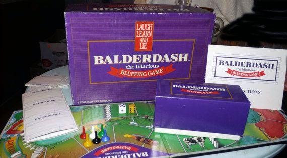 Vintage c.1984 Balderdash board game.  The by BuyfromGroovy