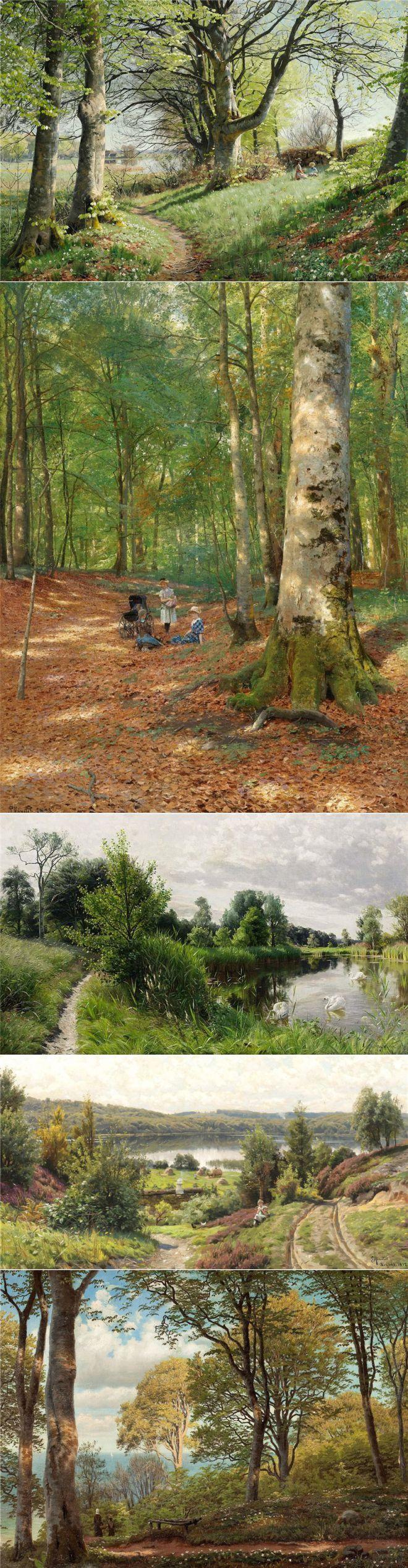 Лесные прогулки... Peder Mork Monsted | искусство | Постила