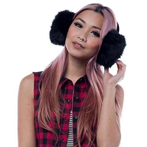 """(ブルーブティック) Bluboutique レディース イヤーマフ Black Faux Fur Earmuffs Black    商品詳細80% Acrylic, 20% Polyester4""""/10cm width of earmuff ..."""