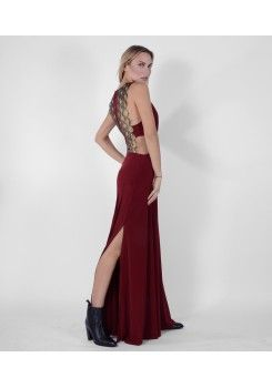 Maxi sleevless dress with deatils on the back