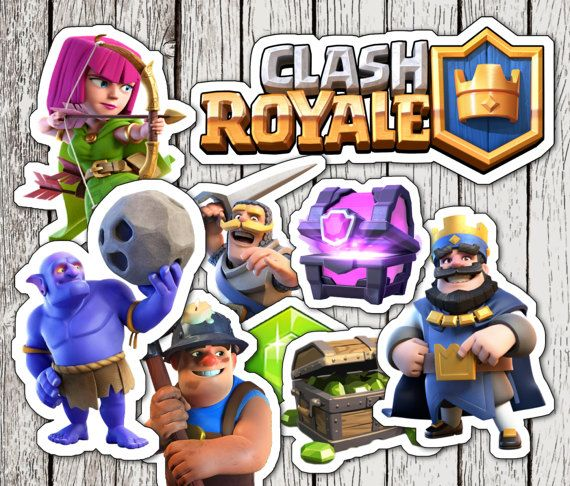 Clash Royale Printable Cupcake Toppers or Photo by Partycipation