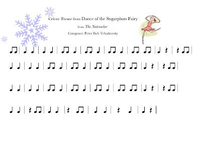Dance of the Sugar Plum Fairy Play-a-long- This is great, as is anything on this blog!!!  Check it out!!!