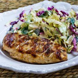 Muy griega Grilled Chicken encontrar en KalynsKitchen.com