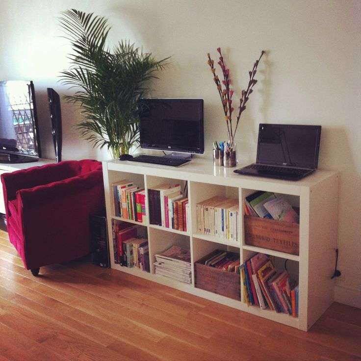 biblioth que bureau caisses de vin expedit d co pinterest bureaus. Black Bedroom Furniture Sets. Home Design Ideas