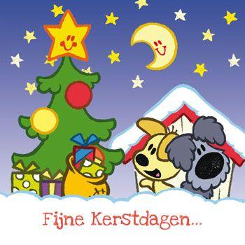 Woezel en Pip kerstkaart