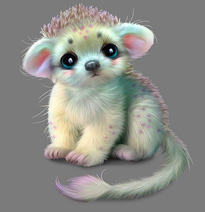 Hedgehog Monster Baby Diamond Painting