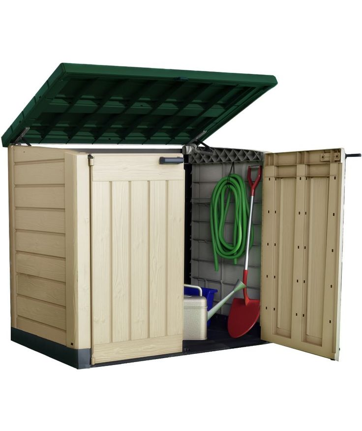 find keter store it out max garden storage beige green at homebase visit your local store for the widest range of garden products - Garden Sheds Homebase