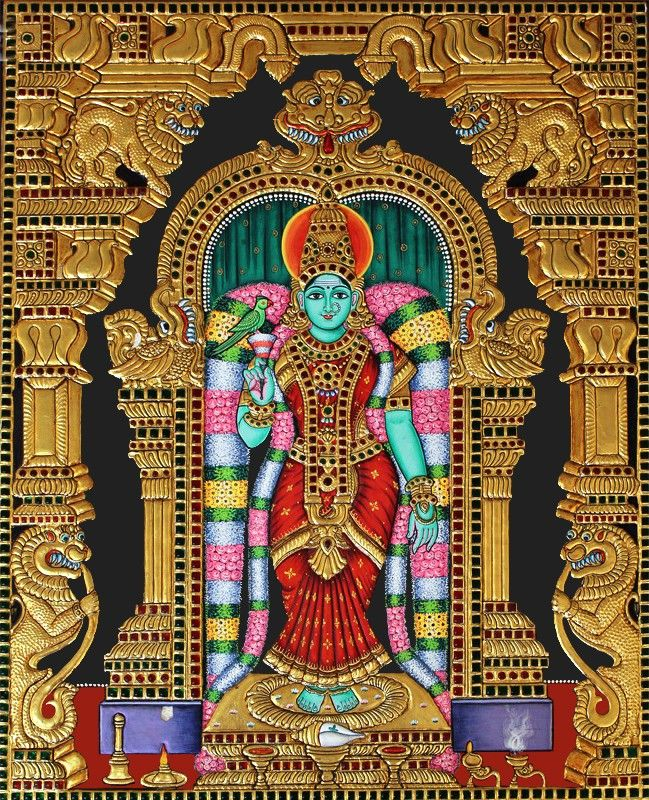Goddess Kanyakumari Tanjore Painting