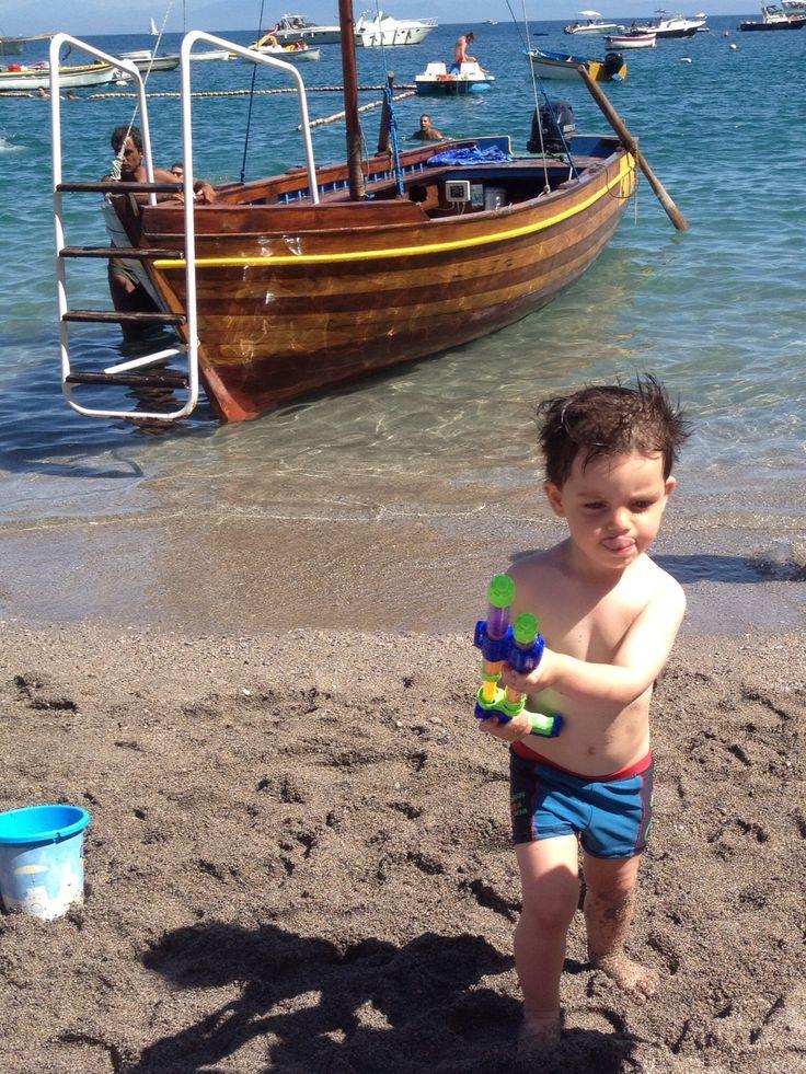 Erchie, Amalfi Coast with my boy