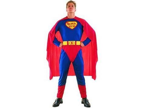 Super Hero man  includes: jumpsuit & cape