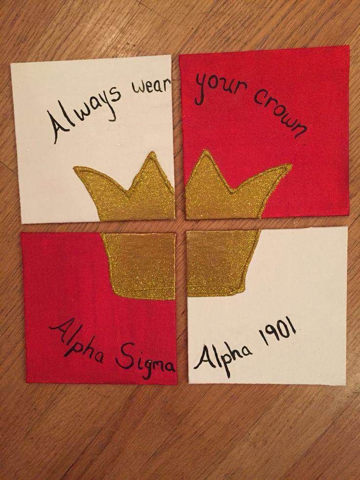 Alpha Sigma Alpha craft for Big/Little week! #alphasigmaalpha #asa #biglittle