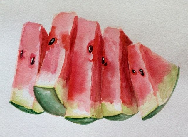 Reddit Watercolor Watercolor Watermelons Quickly Done