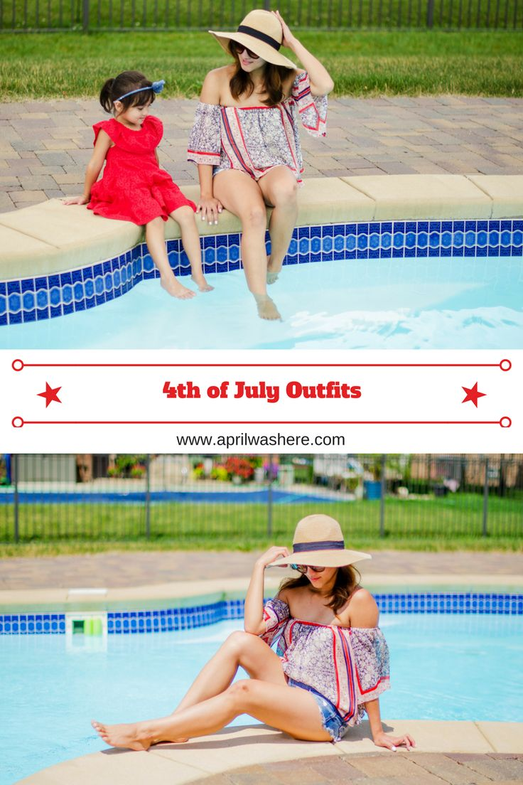 4th of July patriotic outfits, summer time, backyard barbecue outfits