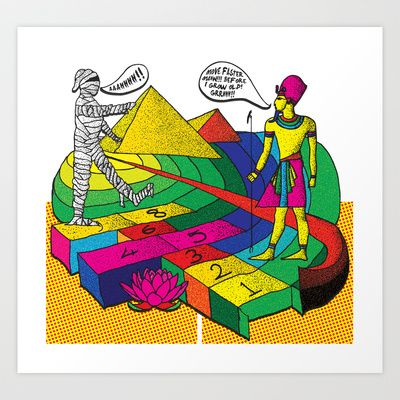 The mummy returns!  Art Print by vidhi shah - $14.56
