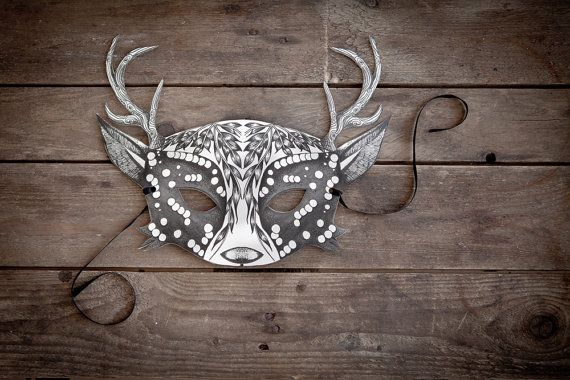 Hey, I found this really awesome Etsy listing at https://www.etsy.com/listing/195918747/deer-mask-bw