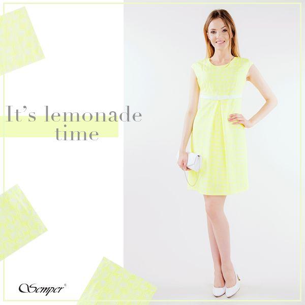 Przepis na orzeźwiający poranek: sukienka w kolorach soczystej cytrynki :)