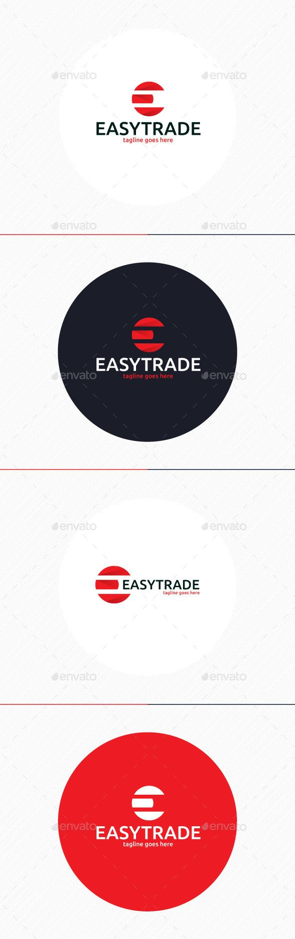 Easy Trade Logo • Letter E — Photoshop PSD #software #modern • Available here → https://graphicriver.net/item/easy-trade-logo-letter-e/9862199?ref=pxcr