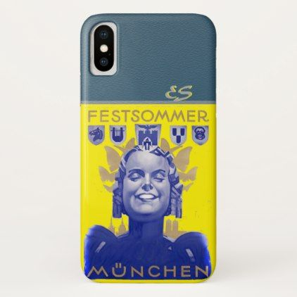 Munich Festival Summer..Festsommer München iPhone X Case - summer gifts season diy template ideas