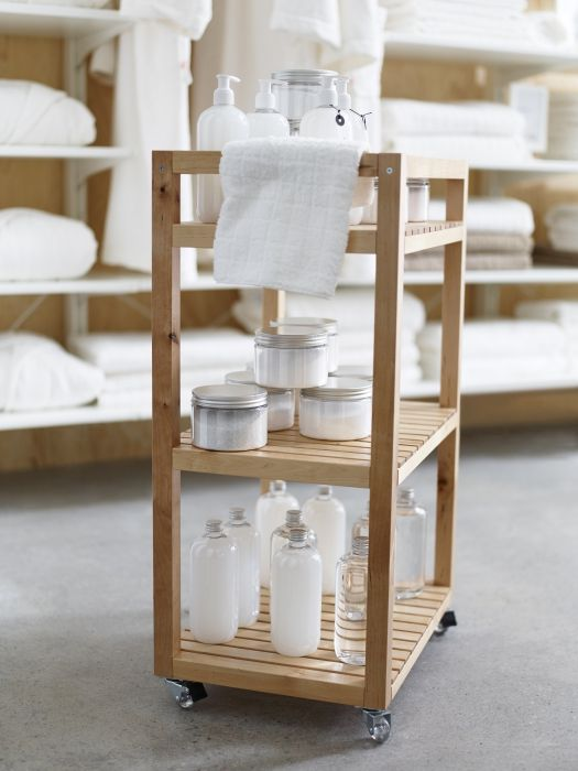The MOLGER cart conveniently rolls where you need it to provide clients with beauty and spa treatments.