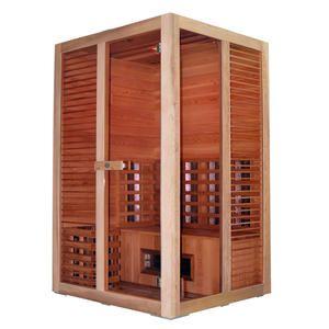 Multibastu för 2 personer. Detta är en härlig kombinations bastu med både infraröd bastu aggregat och med ett traditionellt bastu aggregat. Bastun är fullproppad med övrig utrustning. Vad sägs om musik med Mp3 spelare, radio,  2 högtalare, färgterapi, hygrometer, bastustäva, bastustenar, mm Byggd i cederträ , kvaliten är mycket hög. Bastun levereras i en byggsats som är mycket enkel att montera själv på 2 till 3 timmar. Bastupaketet levereras hem till dig för endast 19 900:-kr.