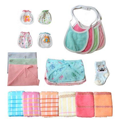 100 Cotton Accessories And Essentials Kit From Little