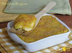 riso al forno filante con zafferano ricetta facile sformato di riso giallo il chicco di mais