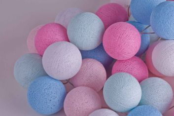 Cotton Ball Lights :: Baby set 20 kul