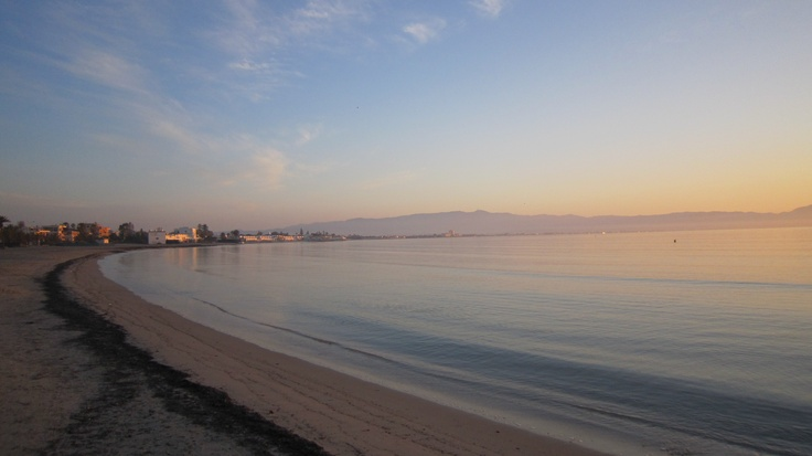 Cagliari, Poetto: alba.