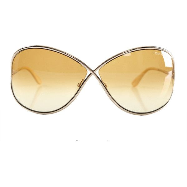 Tom Ford Miranda Sunglasses ($395) ❤ liked on Polyvore featuring accessories, eyewear, sunglasses, women, tom ford, tom ford eyewear, etched glasses, brown lens sunglasses and logo sunglasses